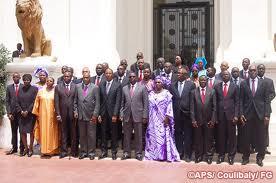 photo de 25 ministres de macky sall