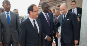 le president français hollande à dakar - Sénégal